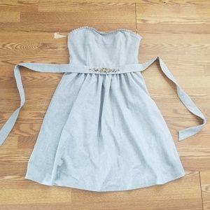 NWT 12 Tall Gray Wool Banana Republic Dress